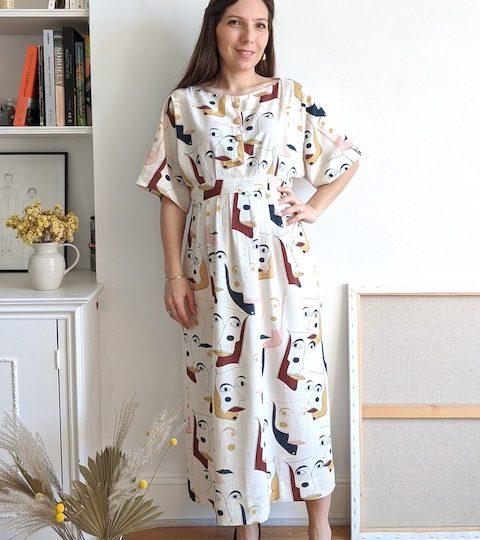 Un patron de robe et blouse idéales pour l'été