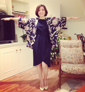 A kimono inspired jacket
