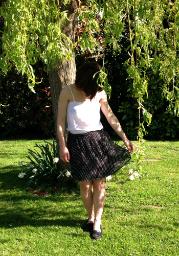 A skirt with dots