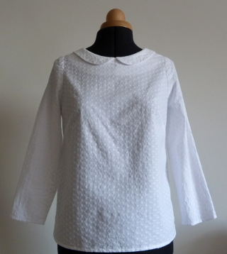 A Peter Pan collar blouse