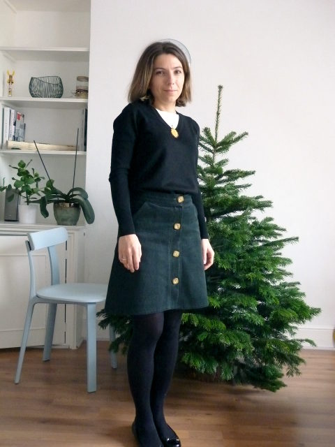 86c1cc6e94 This is basically my new favourite skirt and I've been wearing it a lot.  I'm obsessed with dark green and corduroy so…voila!