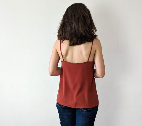 Simple easy to sew camisole pattern