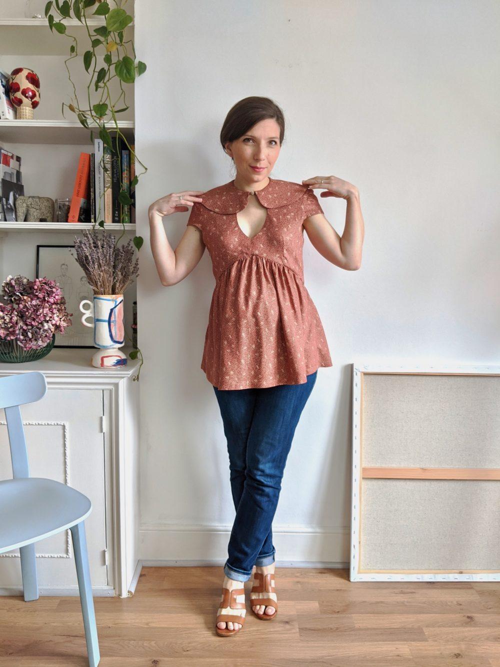 Paulette blouse pattern - 8