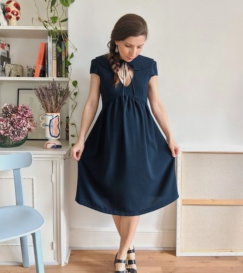 Peter Pan collar dress and blouse pattern – Paulette
